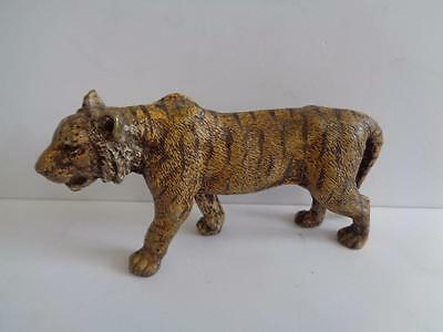 Bergman Cold-Painted Bronze Tiger - Stamped