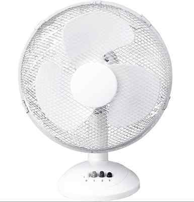 12inch Oscillating 3 Speed Desk Office Air Cooling Fan Portable Adjustable 25W