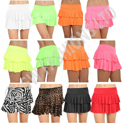 Girls Neon Kids Rara Skirt Tutu Party Skirts Short Dancing Salsa Tango School