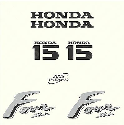 Honda 15 hp Four Stroke outboard engine decal sticker set reproduction old style