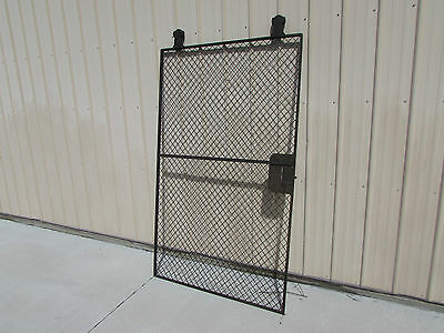 VINTAGE Tool Crib Door Wire Cloth Art Deco