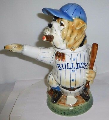 BASEBALL BULLDOG character stein NEWEST in the Man's Best Friend series 17th Ed.