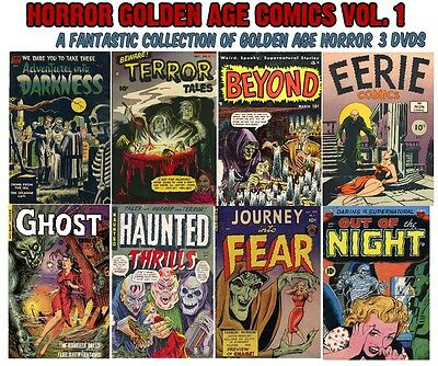 Golden Age Horror Comics Collection on 3 DVDs - FREE Shipping. HORROR