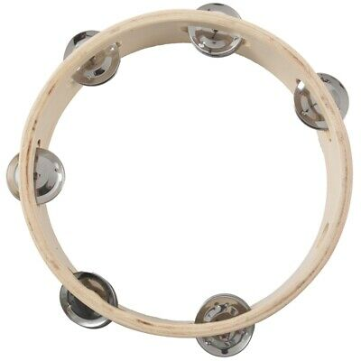 """8"""" Musical Tambourine Drum Round Percussion Gift for KTV Party N3"""