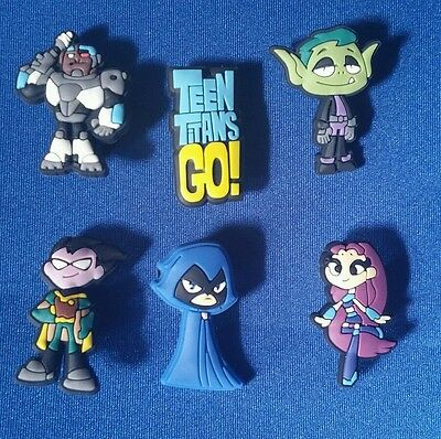 New 6 Pc Teen Titans Go Robin Jibbitz Shoe Charms Cake Toppers Party Favors