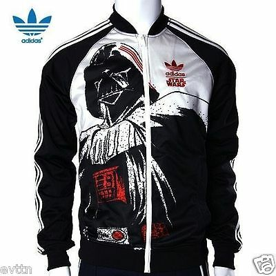 %adidas Star Wars Darth Vader Black White Track Top Jacket M L Xl