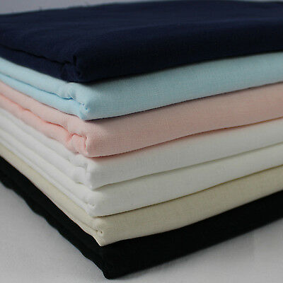 CT Double Gauze 100% Cotton Japanese Fabric plain solid colour per metre