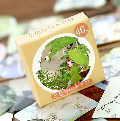 Studio Ghibli Totoro Anime Sticky Envelope Seals Label Planner Stickers 46pcs