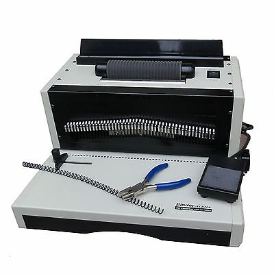 4:1 Pitch Electric Inserting & Punching Spiral Binding Machine A3 Size Up