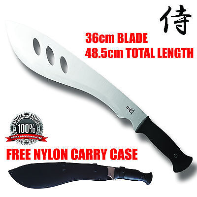 Bush Machete - Hunting Camping Senior Knife Blade Silver + Sheath