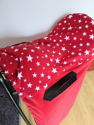 SADDLE COVER Ride on Red with white stars ALL SIZES