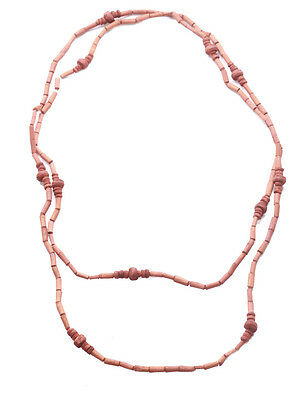 BUDDHIST STYLE HIPPY MONK NECKLACE CHUNKY CLAY STONE ON A WHITE STRING ZX9