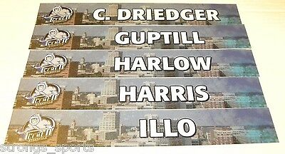 Radoslav Illo Evansville Icemen ECHL Game Used Locker Nameplate