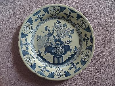 """OUD delft hand painted plate holland vtg blue and white plate 1940's antique 9"""""""