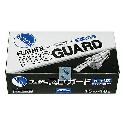 FEATHER Artist Club PRO GUARD blade PG-15 10 packs 150 blades New PROGUARD F/S
