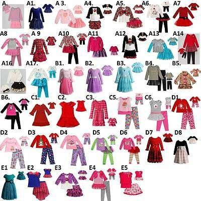 """Dollie & Me Sz 7-14 and 18"""" doll matching  dress outfit clothes american girl"""
