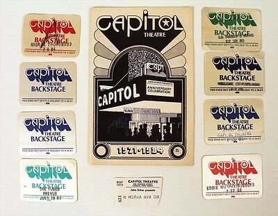 CAPITOL THEATRE-Joan Jett Original Program 12/22/1984+BACKSTAGE PASSES-Joan Jett