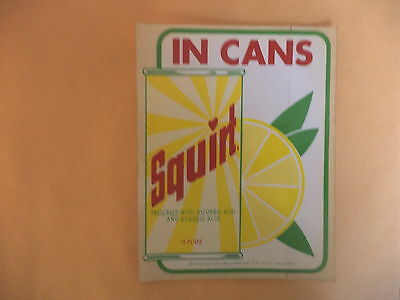 Vintage1970 Squirt Advertising Decal Soda Cans NOS  3 1/2 x 5
