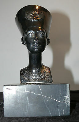Yaacov Heller Sterling Silver Signed Marked Sculpture Egyptian Nefertiti