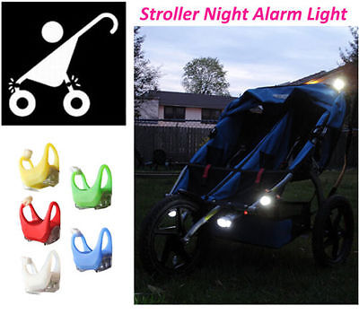 New Silicone Night Caution Alarm Light Lamp For Baby Stroller Night Out Safety