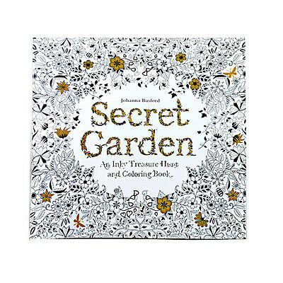 Secret Garden An Inky Treasure Hunt and Coloring Book by Johanna Basford Pencil