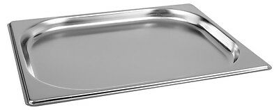 6 x Half Size 1/2 20mm Bain Marie Gastronorm GN Pan Tray Stainless Steel