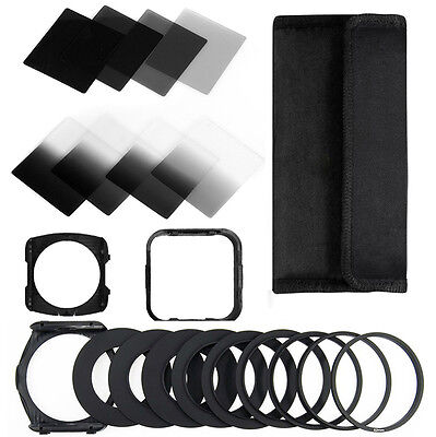 ZOMEI Cokin P GND ND2 4 8 16 Square Filter Lens Hood 49 to 82mm Ring Holder Case