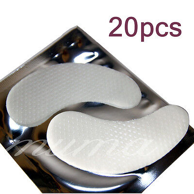 20 Pairs New Under Eye Lint Free Gel Pads Patches For Eyelash Lash Extensions