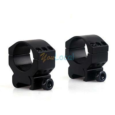 """1 Pair 1.18"""" Low Profile 6 Bolt Scope Mount Ring fit 20mm Weaver Picatinny Rail"""