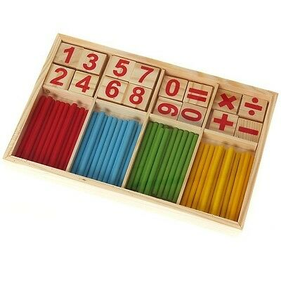 Education Stick Numbers Wooden Mathematics Game For Early Learning Child Toy -B