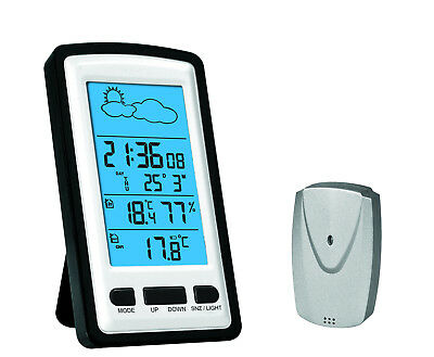 Wireless Digital Weather Station Indoor and Outdoor Temperature Clock Hygrometer
