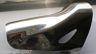 Motorcycle Chrome Exhaust/Chain Guard  Used