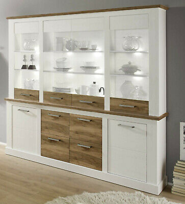 buffet vitrine schrank paulownia holz vintage antik creme coffee neu ovp picclick de. Black Bedroom Furniture Sets. Home Design Ideas