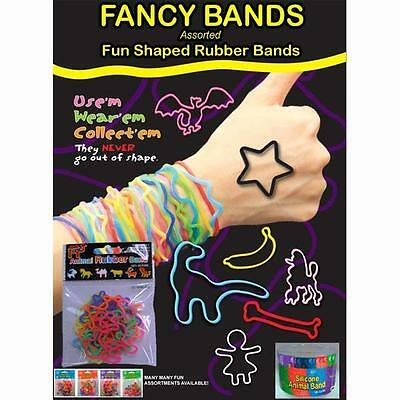 IGGI GH-RB48 Assorted Fun Shaped Rubber Bands Each Tub Will Contain 48 Packs New