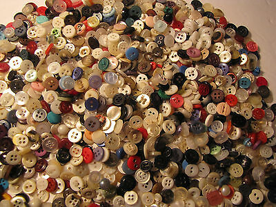 2+ Lbs Vintage- Now Extra Small To Tiny Buttons, Doll/baby Buttons/child, Mixed
