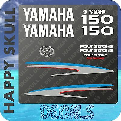 Yamaha 150 hp Four Stroke outboard engine decal sticker set reproduction