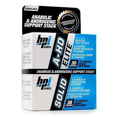 BPI Sports A-HD Elite & Solid Lean Muscle Booster Combo (30 Capsules Each)