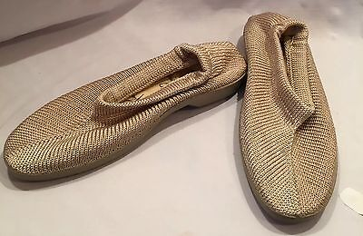 PLUMEX Women's Knit Stretch Shoes/Slippers Tan US 8/EUR 41 Portugal