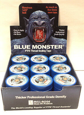 "Blue Monster PTFE Thread Seal Tape 1/2"" x1429"" 45 per box"