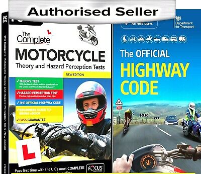 Motorcycle/Motorbike  Theory & Hazard Perception Tests PC DVD-Rom - HW Code Book