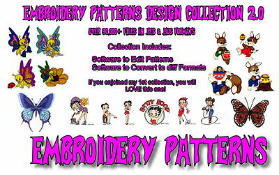 92,000+ Embroidery Machine Patterns Designs Files In .pes & .hus On Dvd - Free
