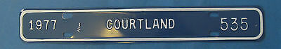 1977 Courtland license plate from Virginia