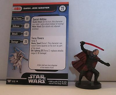 Dark Jedi Master 8/60 Star Wars Miniatures Minis Champions of the Force