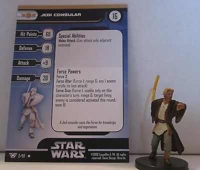 Jedi Consular 2/60 Star Wars Miniatures Minis Champions of the Force