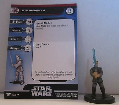 Jedi Padawan 27/60 Star Wars Miniatures Minis Champions of the Force