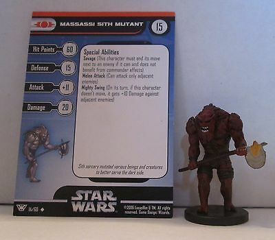 Massassi Sith Mutant 14/60 Star Wars Miniatures Minis Champions of the Force
