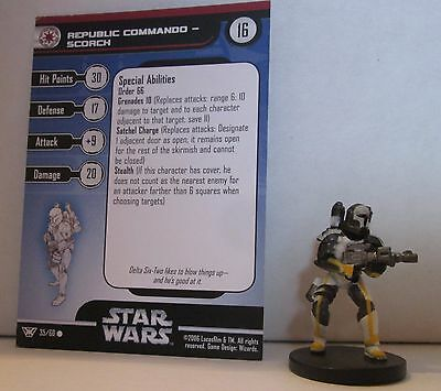 Republic Commando Scorch 35/60 Star Wars Miniatures Minis Champions of the Force