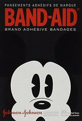 BAND-AID Bandages Mickey Mouse Assorted Sizes 20 Each