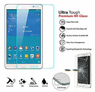 """9H HD Genuine Tempered Glass Screen Protector For Samsung Tab 4 7""""T230 T231 T235"""