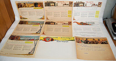 13. Lot Of 16 Telegram Blanks Western Union Telegraph Thanksgiving + 4 Covers